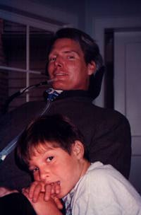 Chris Reeve with his son Will