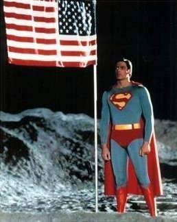 Superman on the moon